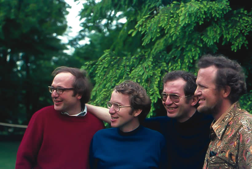 The four brothers at middle age.