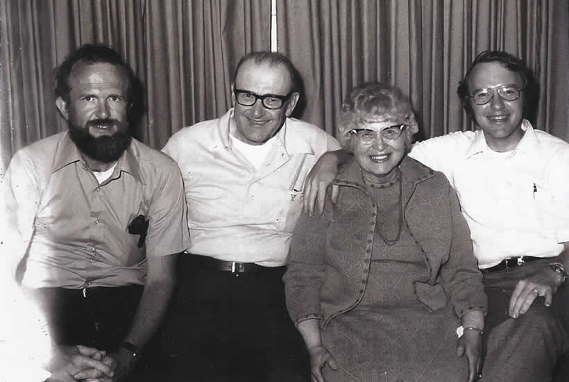 Brad and David with their parents, Nobel and Wilma.