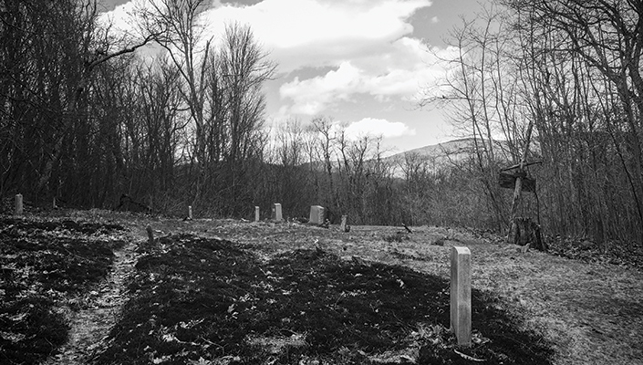 Family cemetery in the Blue Ridge Mountains
