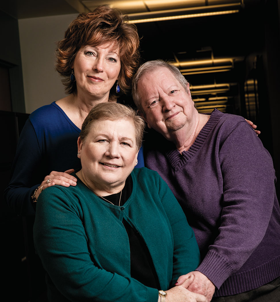 Survivors angle Cramer, Judy Ochs and Lillie Shockney