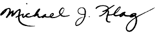 Michael Klag Signature