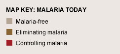 Map key: Malaria Today