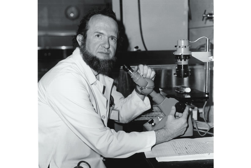 Brad in the lab, circa 1980.