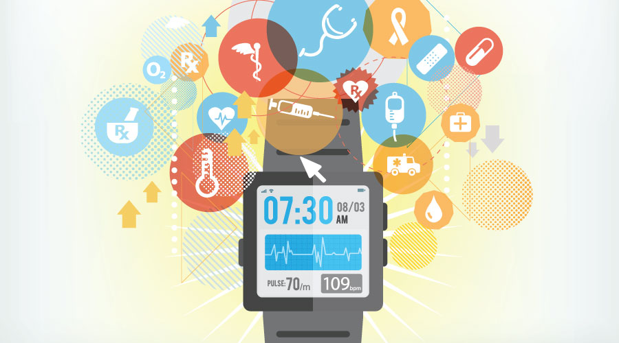 smart watch / health tracking illustration