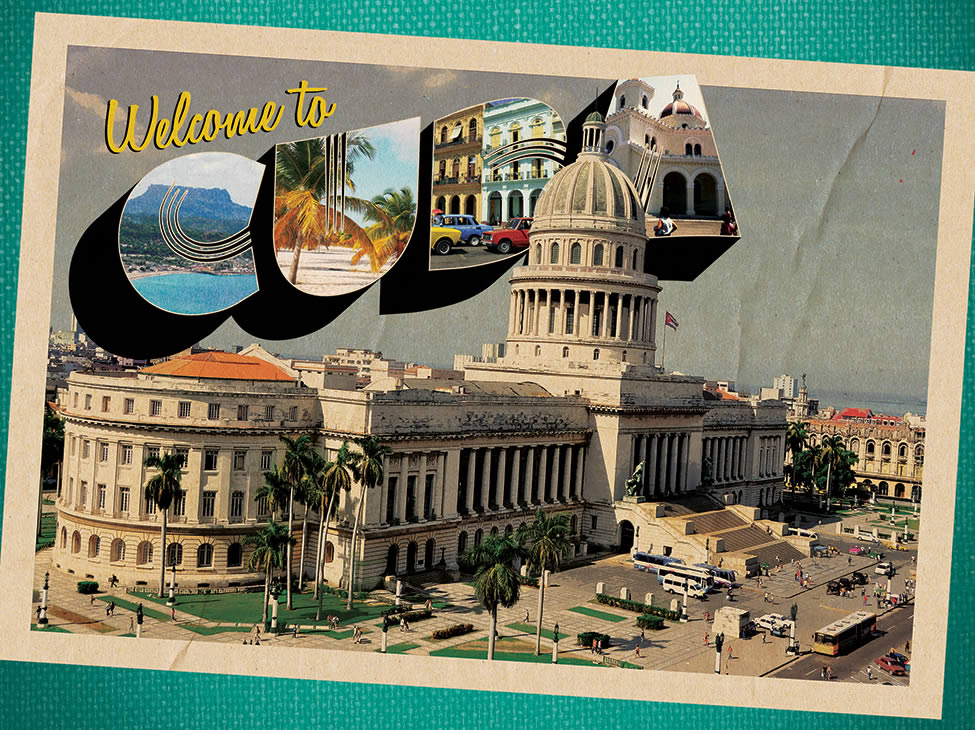Welcome to Cuba postcard