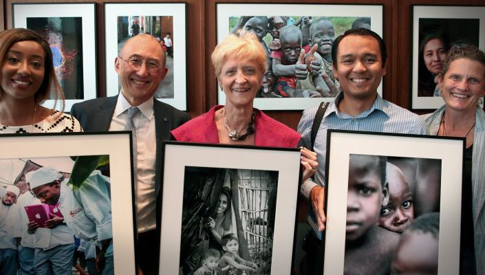 Dean MacKenzie with some of the photo contest winners