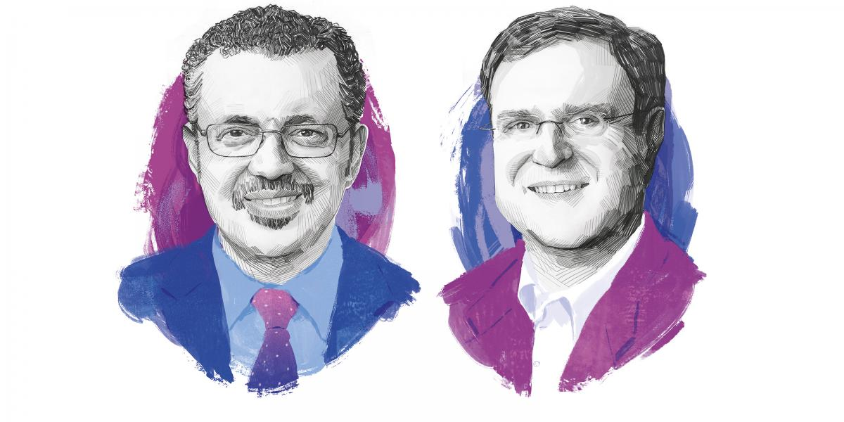 Tedros Adhanom Ghebreyesus and David Peters