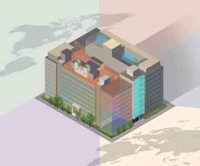 Illustration of the main SPH building