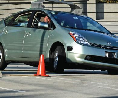 Image of a driverless car