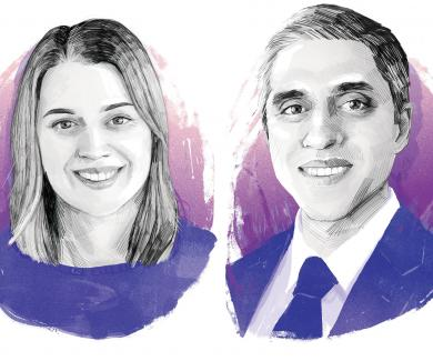 Graphic of Coleen Barry and Surgeon General Vivek Murthy