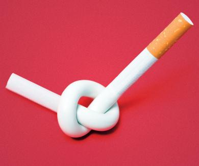 Cigarette tied in a knot