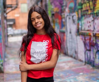 Jada Johnson in Baltimore's Graffiti Alley