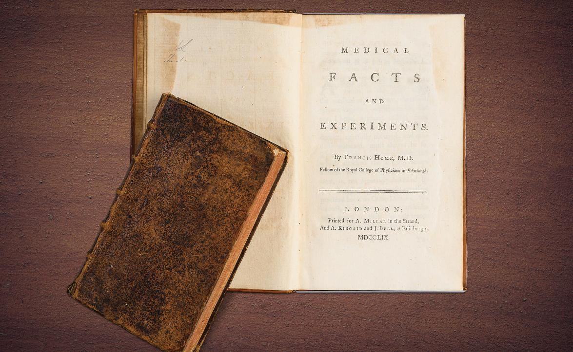 1795 first edition of Medical Facts and Experiments