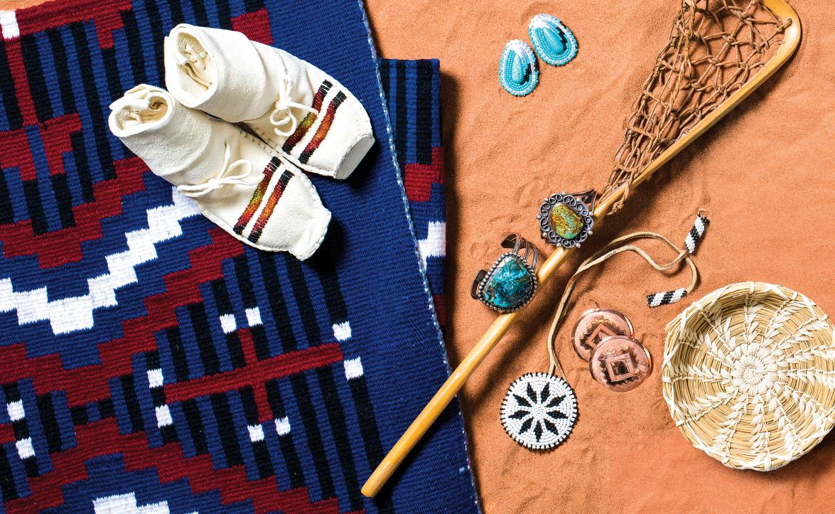 Assorted Native American cultural touchstones